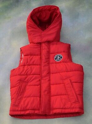 Abercrombie & Fitch Men's Red Puffer Vest Size S.
