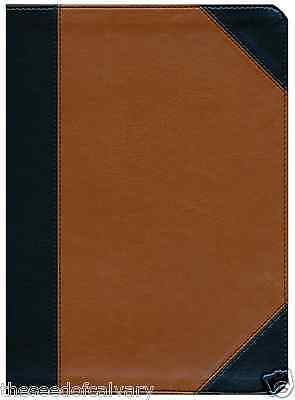 Nkjv Study Bible  Black Tan Leathertouch Thumbed Indexed Brand New