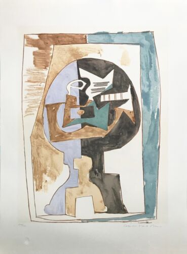 "Marina Pablo Picasso Estate ""gueridon Et Guitare"" 