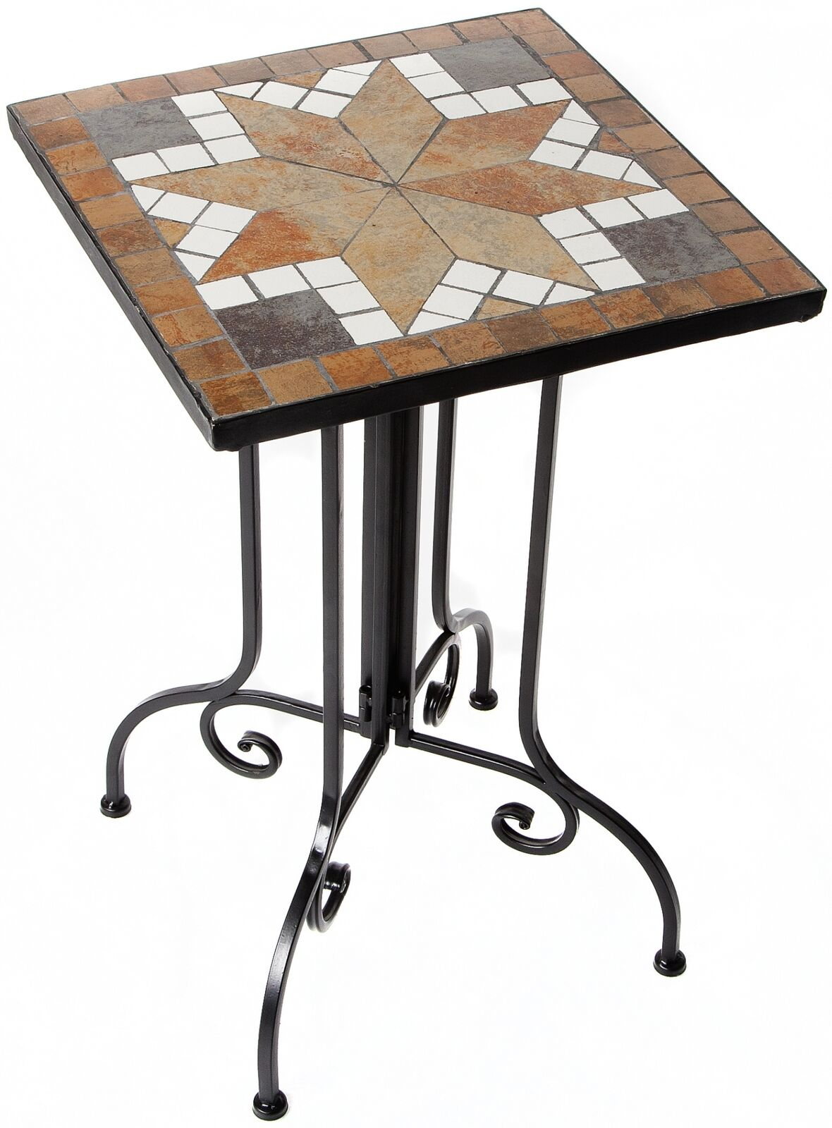 Gartentisch Metalltisch Mit Mosaikplatte Balkontisch