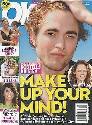 Ok Magazine Robert Pattinson Kristen Stewart The Bachelorette Kate Gosselin