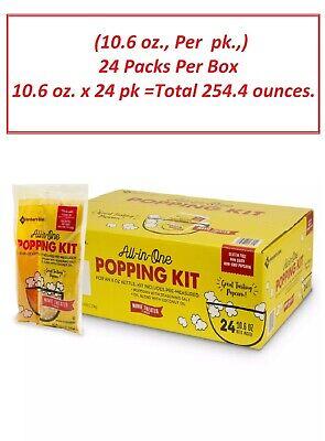 Members Mark Popcorn Kit With Coconut Oil 10.6 Oz. 24 Pk. Per Box