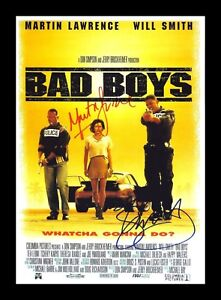 BAD BOYS WILL SMITH MARTIN LAURENCE AUTOGRAPHED SIGNED & FRAMED PP POSTER PHOTO