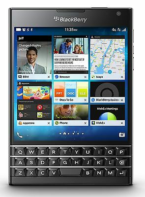 BlackBerry Passport Unlocked GSM 4G LTE 4.5'' QWERTY QuadCore Phone - Black -New
