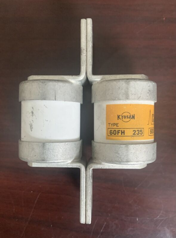 Kyosan 60FH 235 Semiconductor Fuse 60FH110 / 600 v 235 Amp / Tested