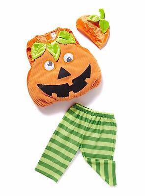 Orange Halloween Pumpkin with Hat Outfit (0-3mths) 56-62cm BNWT