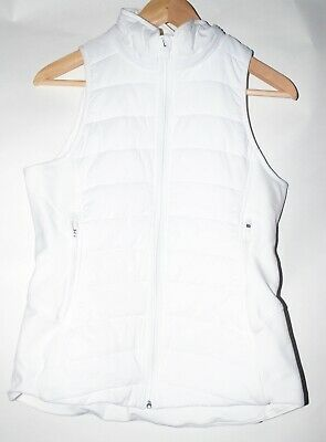 Lululemon White Extra Mile Vest Missing Detachable Hood. Size 6