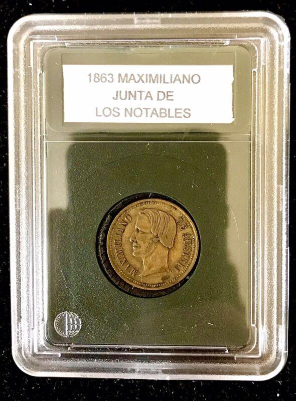1863 Maximiliano Medal Junta De Los Notables