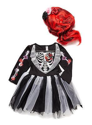 Halloween Day of the Dead Girls Zombie fancy dress up costume Wig & Magic Pic BN (Halloween Kostüme Pics)