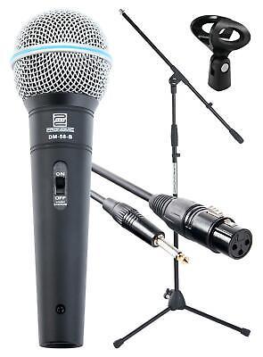 DJ PA Gesangs Live Mikrofon Set Mikrophon Ständer Klinke Mikro Kabel Mic Klemme