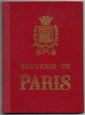 c1920s Souvenir de Paris, France Picture Book-15 Images in Color a73