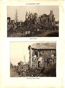 """WWI BATAILLE DE LA SOMME Ruines Quartier Eglise de Lassigny Poilus ILLUSTRATION - France - Commentaires du vendeur : """"OCCASION"""" - France"""