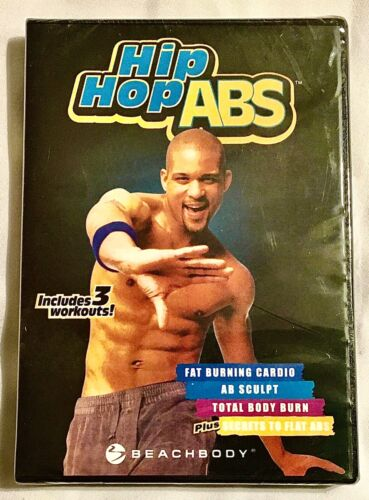 BRAND NEW Hip Hop Abs DVD Set of 3 Workouts Fat Burn Cardio Ab Sculpt Total Body