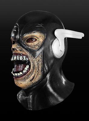 Black Flash Maske aus Latex Superhelden Karneval Fasching ()