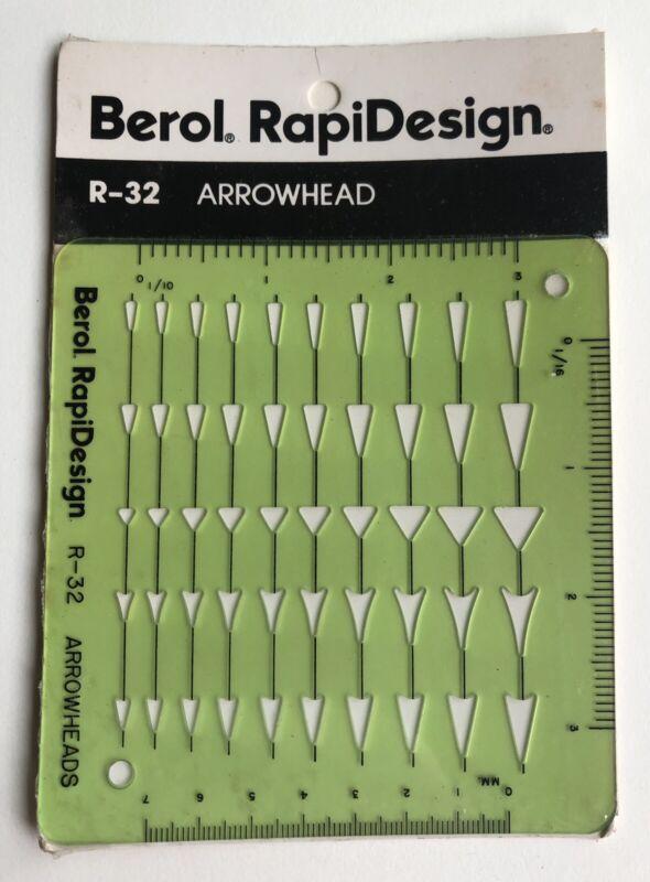 Vintage Berol RapiDesign R-32 ARROWHEADS Symbols Design Template Drafting USA