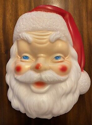 "VINTAGE EMPIRE BLOW MOLD 17"" SANTA CLAIS FACE C/A 1968 CHRISTMAS MUST HAVE"