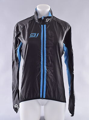 Traks Hutton Long Sleeve Mens Cycling Jersey Blue Reflective Full Zip Soft Lined