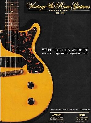 1959 Gibson Les Paul TV Junior Vintage & Rare Guitars UK ad 2008 advertisement