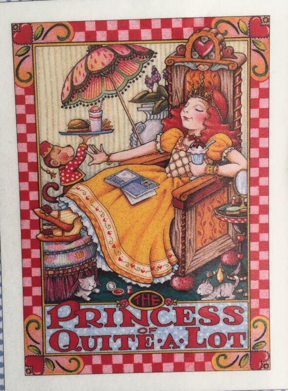 Mary Engelbreit Handmade Magnet-The Princess of Quite A Lot