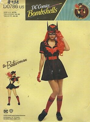 Simplicity 8432 The Bat Girl Costume     Sewing Pattern - Girl Bat Costume