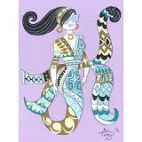 EL GATO GOMEZ RETRO PUCCI FASHION ILLUSTRATION POP ART MOD VOGUE MERMAID 1960S