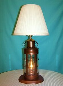 nautical collectible decor ship 39 s lantern table lamp. Black Bedroom Furniture Sets. Home Design Ideas