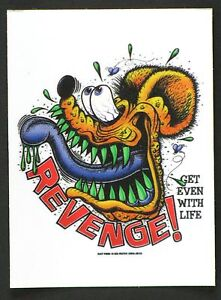 Revenge! Sticker Decal Ed Roth Rat Fink RF18