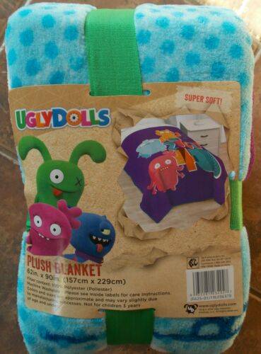 Ugly Dolls Plush Blanket ~ NEW