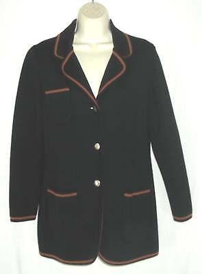 Vintage CARNABY KNIT FASHIONS jacket sz 12 blazer 100% Wool Knit 1960s Hong Kong