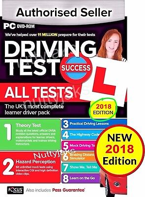 2018 Driving Theory Test / All Tests & Hazard Perception PC DVD  NEW 2018