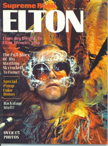ELTON JOHN Supreme Rock Elton   rare book from 1976