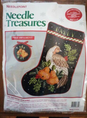 Needle Treasures Needlepoint Kit Partridge Stocking NEW #06880 Christmas