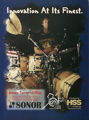 2001 Print Ad of Paiste Drum Cymbal Setup w Danny Carey of Tool