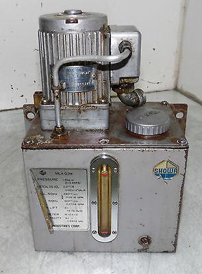 Showa Lubrication System, 220 V, 320 cc/min, MLA 03W, 3 L. Tank, Used
