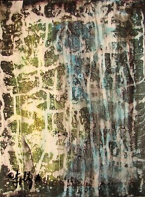 Used, Modernist ABSTRACT Expressionist Painting MODERN Wall ART THE DOWNPOUR FOLTZ for sale  Shipping to Canada
