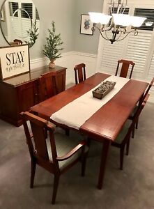 Dining table chairs and buffet