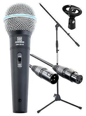 DJ PA Gesangs Live Mikrofon Set Mikrophon Ständer XLR Mikro Kabel Mic Klemme