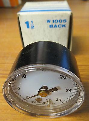 Ashcroft W1005 Pressure Gauge 1 12 30 Psi