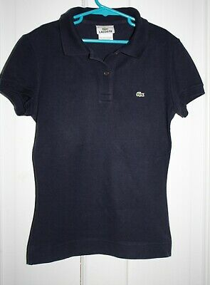 LACOSTE SHORT SLEEVE NAVY BLUE POLO SHIRT SIZE 36 / SMALL