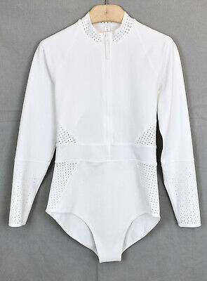 LULULEMON Coastline Paddle Suit 8 Bright White Swim Snorkle Swimsuit NWOT (Lululemon Bathing Suit)