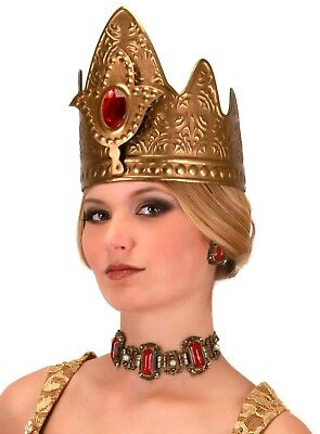 Queen's CROWN Quenn Elizabeth Prom Game of Thrones Gold medieval Costume (Prom Queen Accessories)