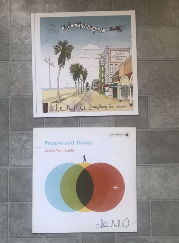 Jack's Mannequin Everything in Transit AND People & Things Lyric Art Book SIGNED