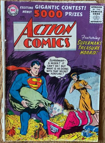 ACTION COMICS (DC,1956) #219 EARLY SILVER AGE ~