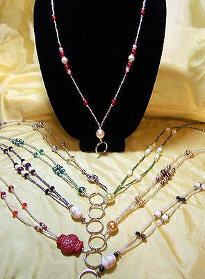 Beaded Lanyard Designs (Handmade Beaded Lanyard ID Badge Holder Glass Pearl Crystal 9 Designs & Colors )
