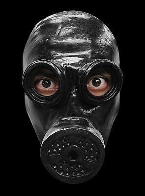 Gas-Maske schwarz Maske des Grauens Halloween Horror Monster