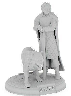 Games Of Throne John Snow Figura 3D Talla 26 CM (Para Pintar...