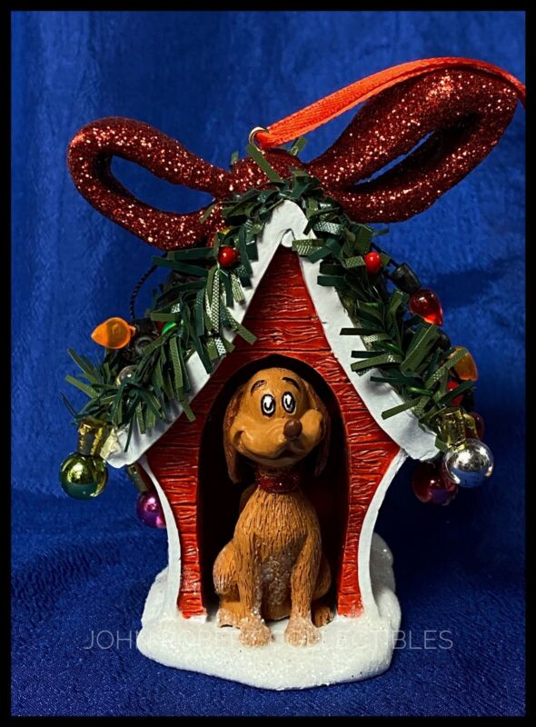 DEPT 56 THE GRINCH MAX IN HIS DOGHOUSE CHRISTMAS ORNAMENT NEW RETIRED