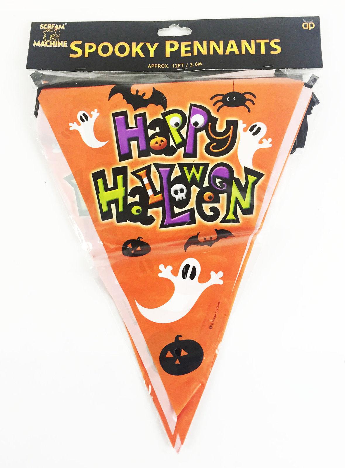Halloween Partyware Bunting Flags
