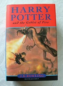HARRY POTTER AND THE GOBLET OF FIRE UK FIRST EDITION, FIRST PRINT BOOK