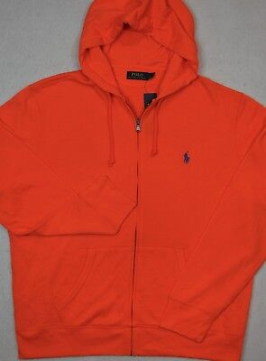 Polo Ralph Lauren Full Zip French Terry Hoodie Jacket Orange 3XB 3XLT NWT Full Zip Terry Hoodie